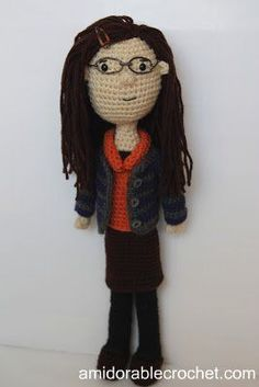 Below is the pattern for my Amy Farrah Fowler Doll! Please keep in mind I do not write my patterns in normal rounds, I just write down the...