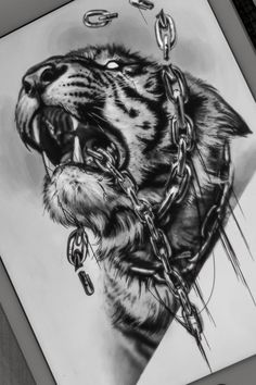 Hip Tattoos Women, Leg Tattoos, Body Art Tattoos, Sleeve Tattoos, Tattoos For Guys, Chicano Art Tattoos, Tattoo Design Drawings, Tattoo Designs, Tiger Tattoo Design