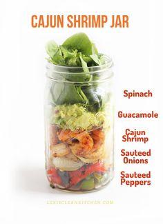 Cajun Shrimp Jar | 18 Mason Jar Salads That Make Perfect Healthy Lunches