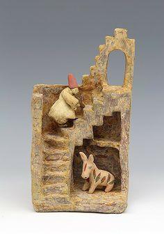 clay ceramic sculpture sufi by sara swink