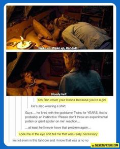 No. Just no. One does not simply joke about Fred Weasley's death
