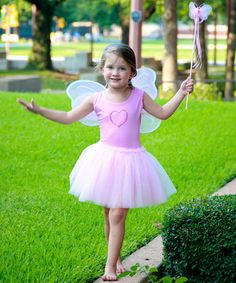 If little ones daydream of castles in the sky and fairy friends that live with the flowers in the backyard, they'll love this set. Wearing the tutu and flapping the enchanted wings as they flutter around the living room, they'll grant wishes and spread smiles with the simple tap of the magic wand.