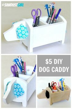 DIY Dog Caddy you can make for $5.  Super gift idea.