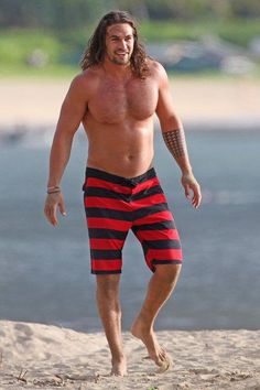 Jason Momoa, made even sexier with a little belly here. Hmm