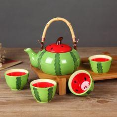 Купить Teaset с фильтром, Чайник * 1 + чашка * 4 + бамбук чайный поднос * 1…