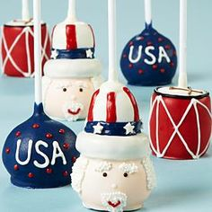 Fourth of July Cake Pops? Almost too cute to eat. Shari's Berries' 4th of July Cake Pops are $ 10 OFF!