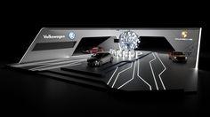 Propuesta de stand para VW para la semana de Alemania en México.Modelado en 3ds max y renderizado en iray.