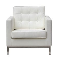 The Buttoned Down White Mid Century Chair Control Brands Chairs Chairs & Recliners Living