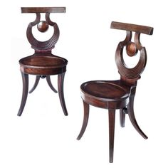 Fine George III Mahogany Hall Chair, in the Gillows Style Antique Furniture, Cool Furniture, Victorian Dolls, Regency, Hall Chairs, Antiques, Table, England, House