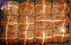 Gluten Free Hot Cross Buns — Living a Real Life Gluten Free Hot Cross Buns, Low Fodmap, Hot Dog Buns, Gluten Free Recipes, Free Food, Real Life, Eat, Gluten Free Menu