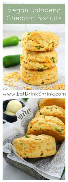 Vegan Jalapeño Cheddar Biscuits - Eat. Drink. Shrink.