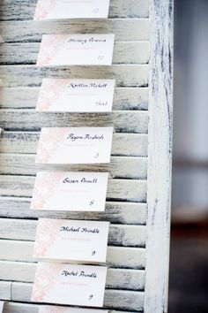 Style Me Pretty | Gallery  Shutters for name cards