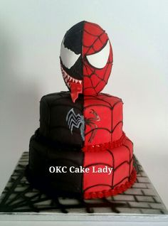 Spiderman Venom Cake