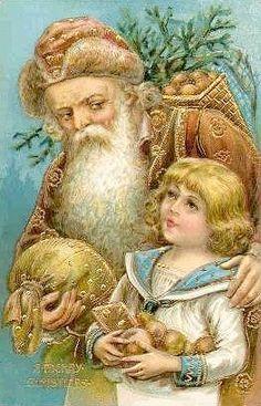 Side Glance Victorian Santa