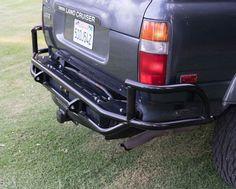 Trail Gear Toyota FJ80 Rock Defense Rear Bumper - Overland Gear HQ Jeep 4x4, Jeep Truck, Chevy Trucks, Land Cruiser 80, Toyota Land Cruiser, Diy Bumper, 3rd Gen 4runner, Toyota Van, Overland Gear