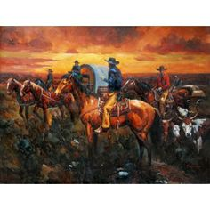 The Puncher 22x30 Cowboy Western Art Print by Remington Hand Numbered Edition