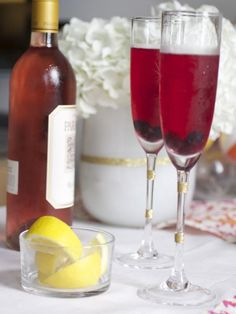 Rose Lemon Champagne Punch. It's crisp and refreshing. So pretty! http://www.hgtv.com/entertaining/host-a-christmas-ornament-making-party/pictures/page-15.html?soc=pinterest