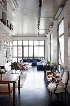 House interior design, loft, apartment, montreal, paris, new york, decor, white