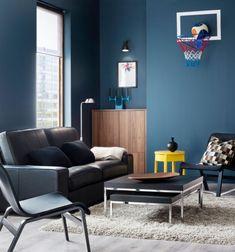 Wand Streichen In Farbpalette Der Wandfarbe Blau | Zimmer Ideen | Pinterest  | Lifestyle