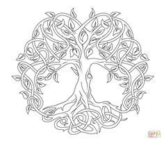 Celtic Mandala Coloring Pages Celtic Tree Of Life Coloring Free Printable Coloring Pages, Free Coloring Pages, Coloring Books, Celtic Mandala, Celtic Art, Celtic Dragon, Mini Mandala, Crochet Mandala, Mandala Art