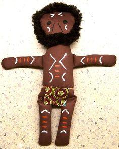 Aboriginal Warrior Doll
