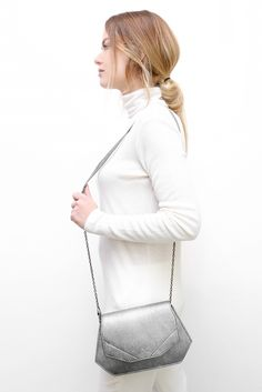 little JADE silver black #leather #bag #madeinbelgium #mayennenelen