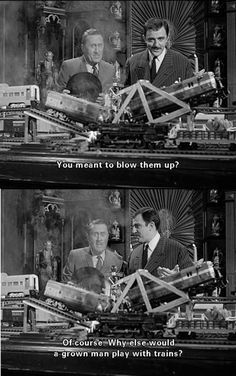 The Addams Family - You meant to blow them up? - Of course. Why else would a grown man play with trains? The Addams Family 1964, Addams Family Tv Show, Movies Showing, Movies And Tv Shows, Los Addams, Munster Family, Gomez And Morticia, Charles Addams, The Munsters