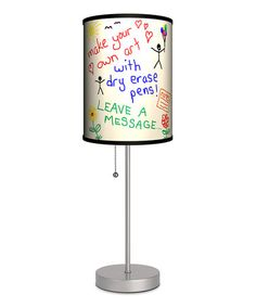Take a look at this Silver Dry-Erase Lamp by Lamp-In-A-Box on #zulily today!