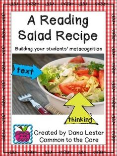 """Creating a """"Reading Salad"""" is a great way to teach your students that they must do more than just read the words in a text, they also have to THINK!   This download will explain the recipe for a Reading Salad and includes Thinking Stems and a student response page."""