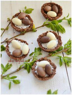 .. chute a vône mojej kuchyne...: Veľkonočné variácie - Nepečené vtáčie hniezda