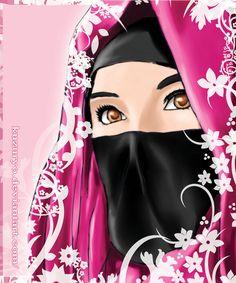 muslimah hijab by kuzuryo on DeviantArt Cartoon Art, Cute Cartoon, Crown Illustration, Hijab Drawing, Arabian Women, Islamic Cartoon, Mode Abaya, Islam Women, Hijab Cartoon
