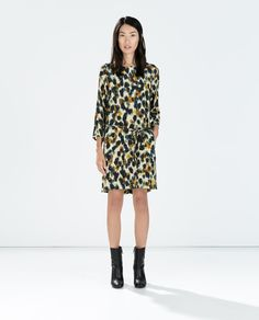 ZARA - WOMAN - PRINTED DRESS WITH BACK ZIP