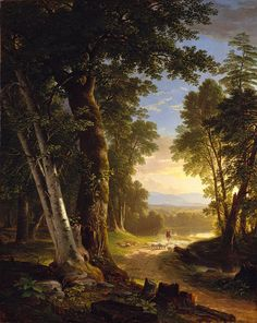 The Beeches, 1845  Asher B. Durand of the Hudson River School, 19th century American Art. Once again, beautiful nature and light.