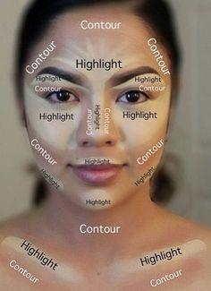 22 Trendy Makeup Contour for Beginners, # Beginner # Contour # Makeup # Tren . - 22 Trendy make-up contour for beginners, # Beginner # Contour # Make-up # Trend – … – 22 Tren - Contouring For Beginners, Step By Step Contouring, Makeup Tutorial Step By Step, Makeup Tutorial For Beginners, Contouring And Highlighting, Makeup Contouring, Face Contouring Tutorial, Makeup Brushes, Easy Contouring