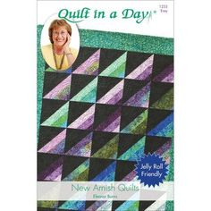 Amish Quilts Pattern Eleanor Burns Quilt in a Day 1233 Easy for sale online Amish Quilt Patterns, Strip Quilt Patterns, Jelly Roll Quilt Patterns, Beginner Quilt Patterns, Modern Quilt Patterns, Amish Quilts, Quilting For Beginners, Easy Quilts, Block Patterns