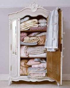 DIY.. Shabby Armoire Turned into Storage by Removing Drawers!