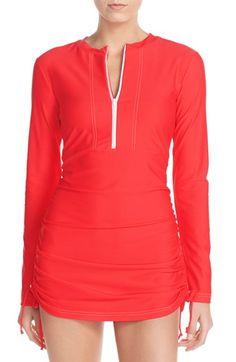Mott 50 'Sonja' Long Sleeve Half Zip Convertible Swimdress (UPF 50) | Nordstrom