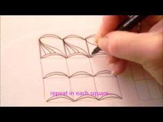 How to draw tanglepattern Skarf - YouTube