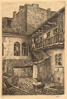 Julia KOWALSKA ● PODWÓRKO WILEŃSKIE, 1935 ● akwaforta