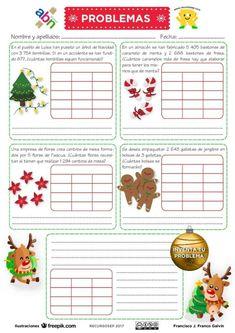 Recopilación de propuestas para NAVIDAD en Primaria Baby Shower, Map, Teaching, Worksheets, Sat 2, Projects, Christmas, Riddles, Multiplication Activities