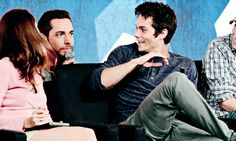Dylan O'Brien with Zachary Levi at Nerd HQ: The Maze Runner