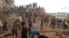 Huge Earthquake Kills Hundreds In Nepal, Triggers Everest Avalanche: Volunteers help with rescue work at the site of a building that collapsed after an earthquake in Kathmandu, April (AP Photo/ Niranjan Shrestha) Baltimore Riots, Weather News, Tsunami, Natural Disasters, Mount Rushmore, Places To Visit, Around The Worlds, At Least, Monuments