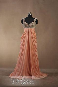 Fabulous A-Line Floor-Length Spaghetti Strap Evening Dress
