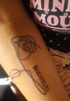 Love Yourself Tattoo Kpop Tattoos, Army Tattoos, Korean Tattoos, Mini Tattoos, Body Art Tattoos, Tatoos, Piercing Tattoo, Piercings, Nouveau Tattoo