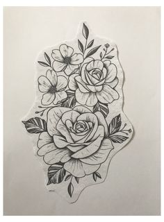 Flower Hip Tattoos, Rose Tattoos, Body Art Tattoos, Mandala Flower Tattoos, Tatoos, 3 Roses Tattoo, Mandala Hip Tattoo, Rose Tattoo Thigh, Key Tattoos