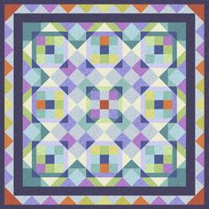 This stunningly gorgeous quilt reminds us of gem facets winking beautifully in the light, isn't it pretty?  The quilt was designed by Katia Hoffman for EBI Fabrics and features her Leisurely Scroll collection.  This project is for experienced quilters, so take a careful look before diving in! http://www.freequiltpatterns.info/free-pattern---leisurely-scroll-quilt-by-katia-hoffman.htm