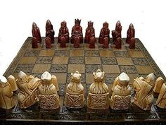 Buy Isle of lewis chessmen - full size complete set of chess set game pieces vintage and collectors - Topvintagestyle.com ✓ FREE DELIVERY possible on eligible purchases