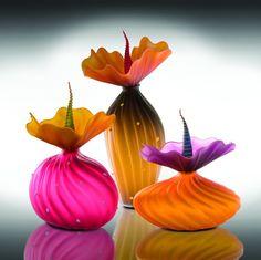 Botanically inspired art glass by Kliszewski Glass. American Made Art Glass. 2013 Buyers Market of American Craft. americanmadeshow.com