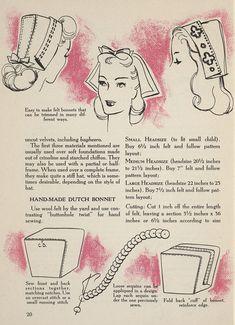 vintage dutch hat pattern draft