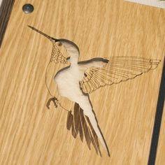 Wooden Hummingbird Notebook